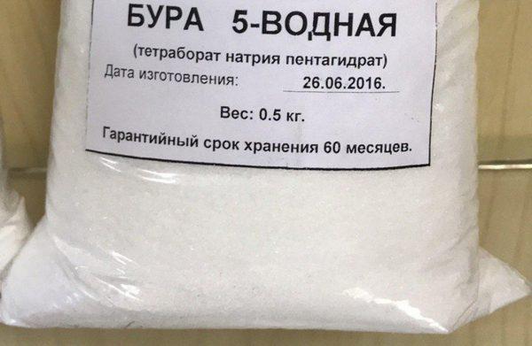 Borax pour le traitement des murs contre la moisissure et le mildiou