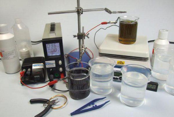 Préparation d'un lieu de travail pour le revêtement de pièces avec du chrome