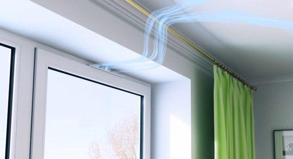 Pour éviter la formation de moisissure sur les murs, il est nécessaire de prévoir la bonne ventilation de la pièce