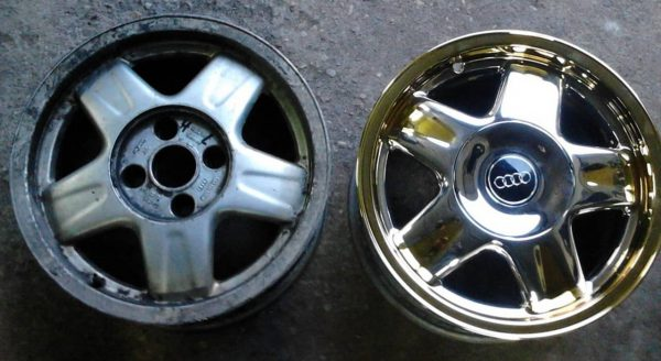 Jantes de voiture en aluminium chromé