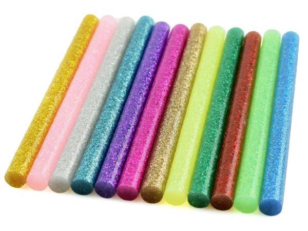 Tiges thermofusibles colorées
