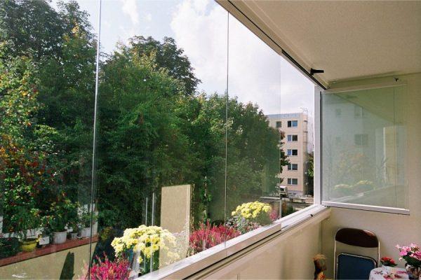 Fenêtres panoramiques sans cadre