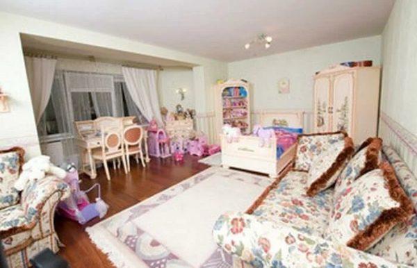 L'intérieur de la chambre des enfants