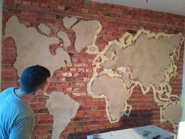 Comment plâtrer une carte du monde