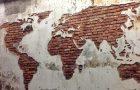 Carte du monde en stuc
