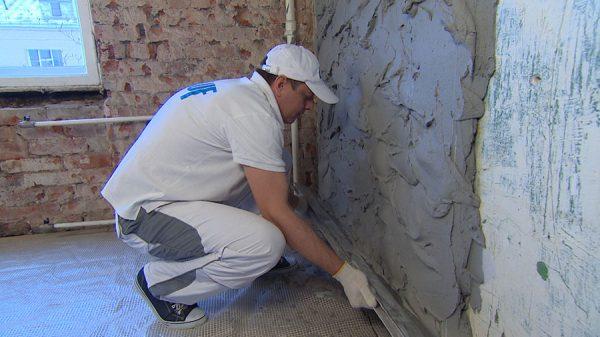 Décoration murale avec du plâtre de gypse
