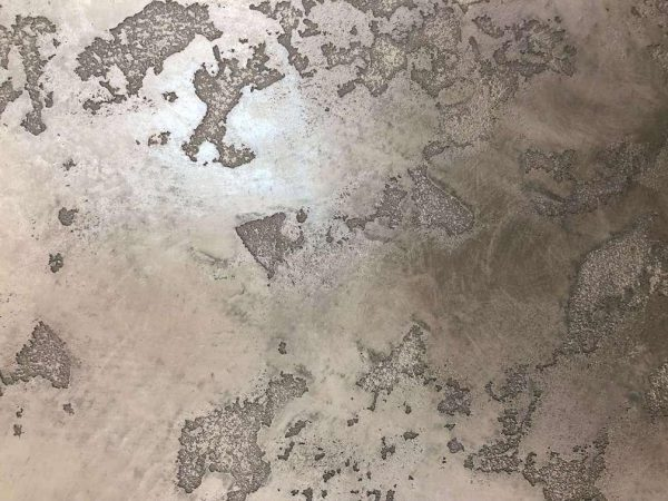 Carte du monde en plâtre nacré